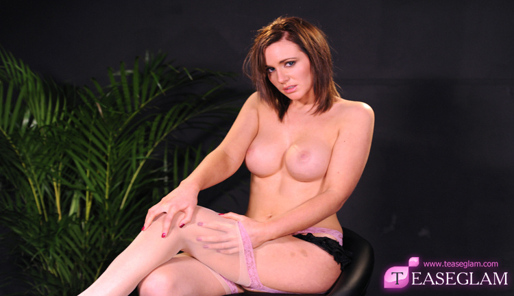 Jenna J slips into a sexy pair of stockings
