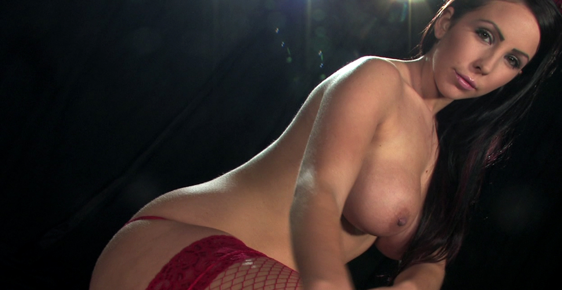 Nina Leigh red fishnet stockings